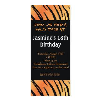 Tiger Animal Print Birthday Party Event Invitation