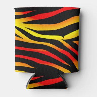 Tiger Animal Print Pattern Can/Bottle Cooler