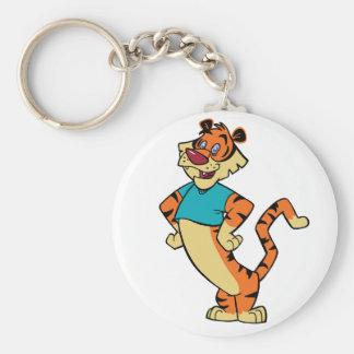 Tiger - Aqua Mascot Keychain