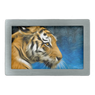 Tiger Art Painting Belt Buckle