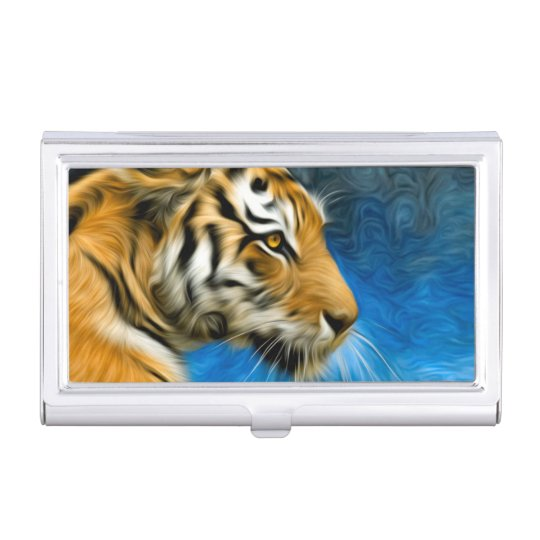 Tiger Art Painting Business Card Holder