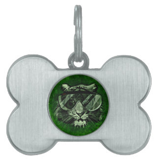 Tiger art pet ID tag