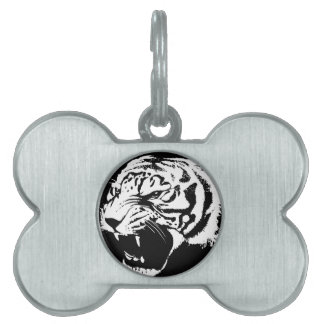Tiger art pet tag