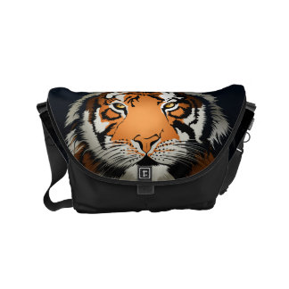 Tiger at night courier bag