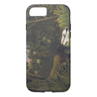 Tiger Attacking a Horse and a Sleeping Black Man ( iPhone 8/7 Case