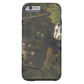 Tiger Attacking a Horse and a Sleeping Black Man ( Tough iPhone 6 Case