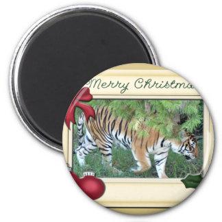 Tiger Auroara-c-147 copy 6 Cm Round Magnet
