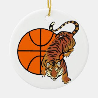 Tiger Basketball T-shirts and Gifts Christmas Ornament