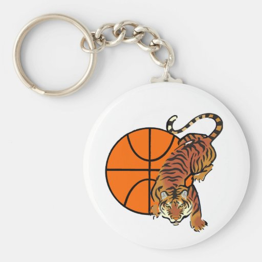 Tiger Basketball T-shirts and Gifts Keychains