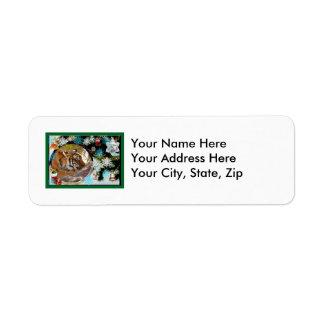 Tiger Bengali-c-25 copy Return Address Label