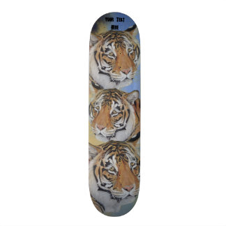tiger big cat wildlife realist art design skateboards
