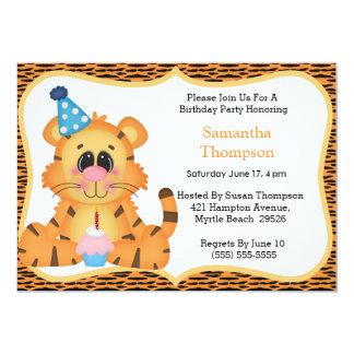 Tiger Birthday Invitations