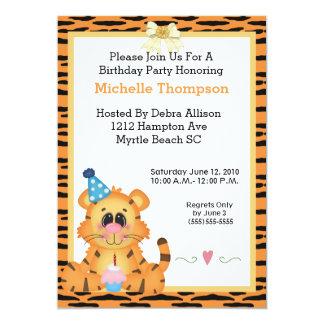 Tiger Birthday Party Invitations