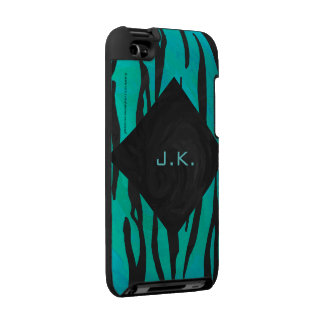 Tiger Black and Teal Print iPod Touch 4g Cases
