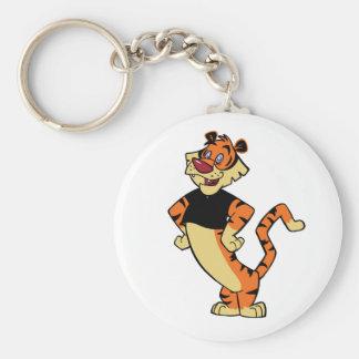 Tiger - Black Mascot Keychain