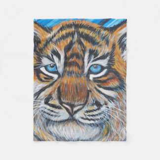 Tiger Blue Fleece Blanket