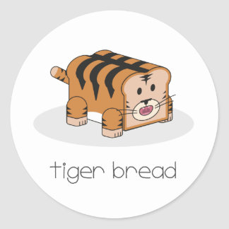 Tiger Bread Classic Round Sticker