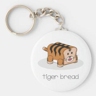 Tiger Bread Basic Round Button Key Ring