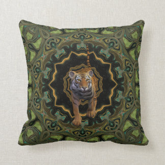 Tiger By The Tail. Throw Cushion