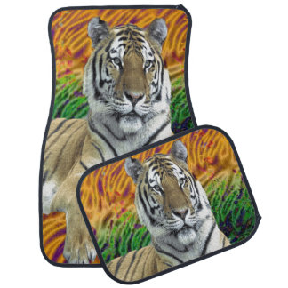 Tiger car mat
