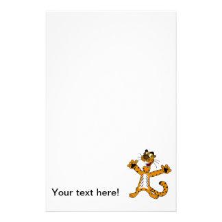 Tiger cartoon custom stationery