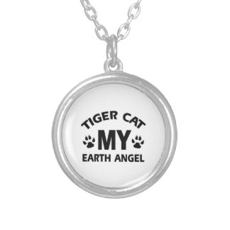 TIGER CAT DESIGN SILVER PLATED NECKLACE
