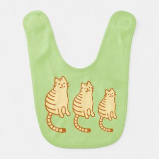 Tiger cat family bib
