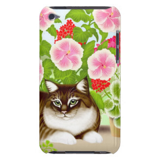 Tiger Cat in Patio Jungle iPod Touch Case