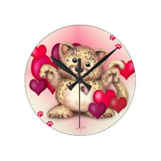 TIGER CAT LARGE ROUND CLOCK MEDIUM