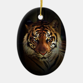 Tiger Ceramic Oval Decoration