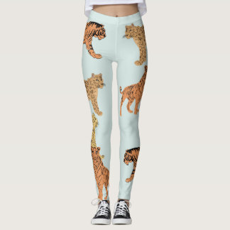 Tiger, Cheetah And Leopard Leggings