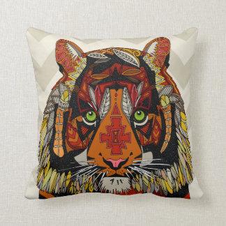 tiger chief neutral chevron cushion
