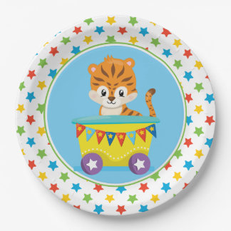 Tiger| Circus Train | Circus Theme Paper Plate