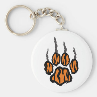 TIGER CLAW MARKS BASIC ROUND BUTTON KEY RING