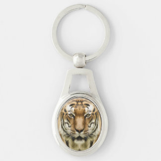 Tiger Close-Up key chains