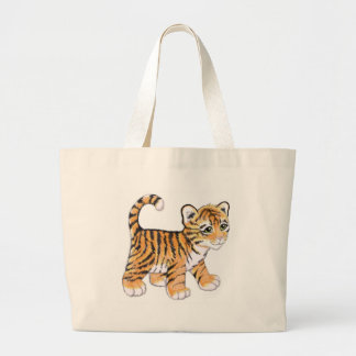 Tiger Cub Large Tote Bag