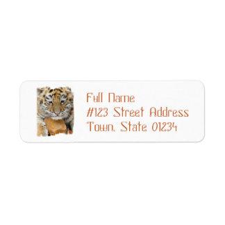 Tiger Cub Return Address Mailing Label Return Address Label