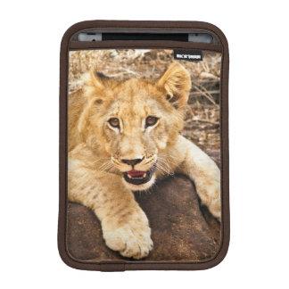 Tiger Cub Takes Breather On A Rock iPad Mini Sleeve