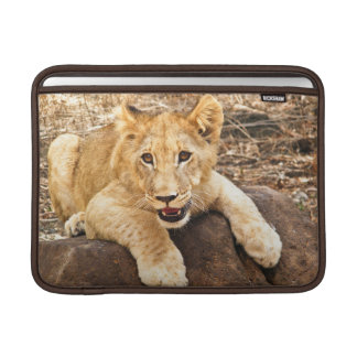 Tiger Cub Takes Breather On A Rock MacBook Sleeve