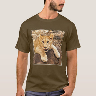 Tiger Cub Takes Breather On A Rock T-Shirt