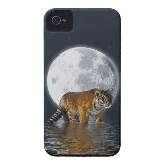 Tiger Cub, Wild-Cat, Full Moon, Animal, Fantasy iPhone 4 Case