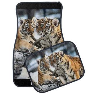 Tiger Cubs At Play Floor Mat
