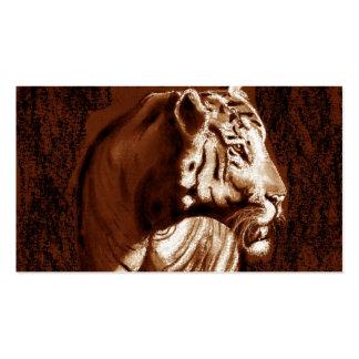 tiger dark and light orange business card template