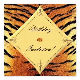 Tiger Design Birthday Invitation!