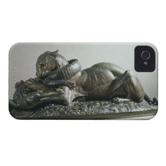 Tiger devouring an alligator, 1832 (bronze) iPhone 4 cases