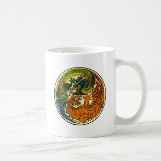 Tiger & Dragon Yin Yang Coffee Mug