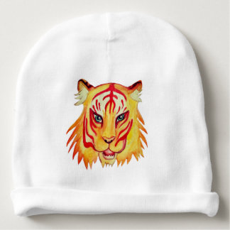 Tiger Drawing Baby Cotton Beanie Baby Beanie