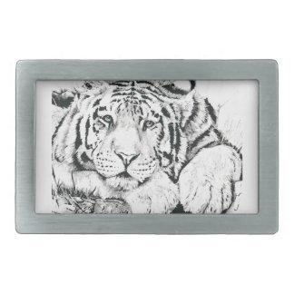 Tiger drawing belt buckle
