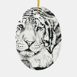 Tiger drawing christmas ornament