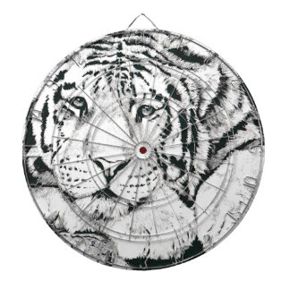Tiger drawing dartboard